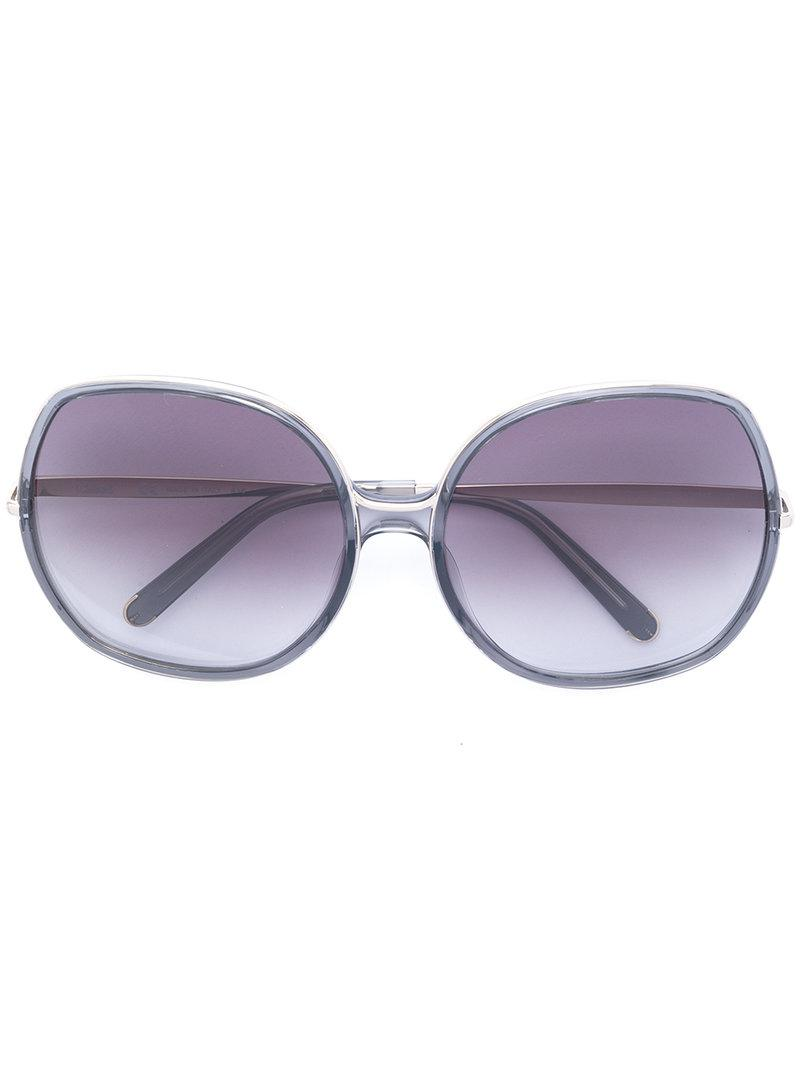 ce0106169dc Lyst - Chloé Nate Sunglasses in Gray