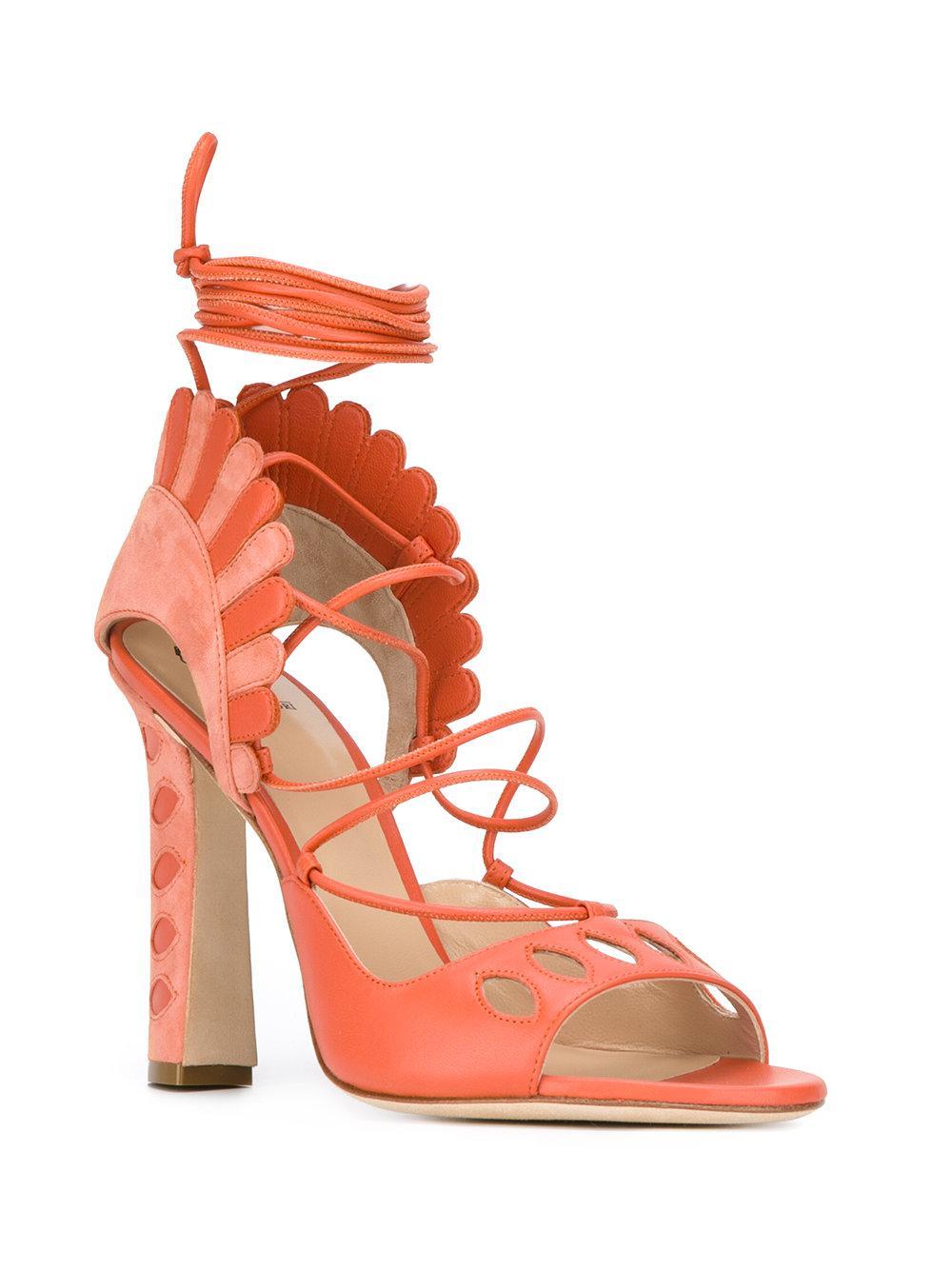 Lotus sandals - Yellow & Orange Paula Cademartori zYTDn