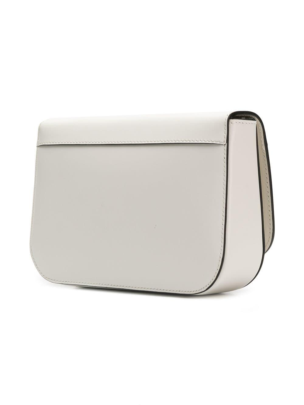 93e03e115ad4 Lyst - Prada Plaque-embellished Shoulder Bag in White
