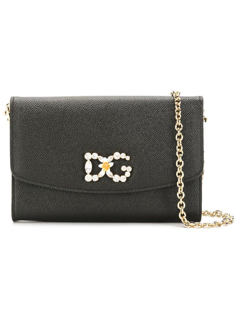 8473cd77a671 Lyst - Dolce   Gabbana Dg Flap Clutch in Black