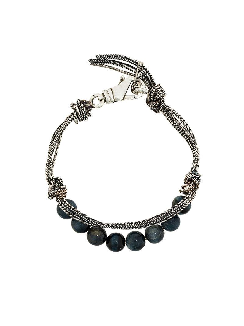 Emanuele Bicocchi beaded bracelet - Metallic XhwGS5Tubo