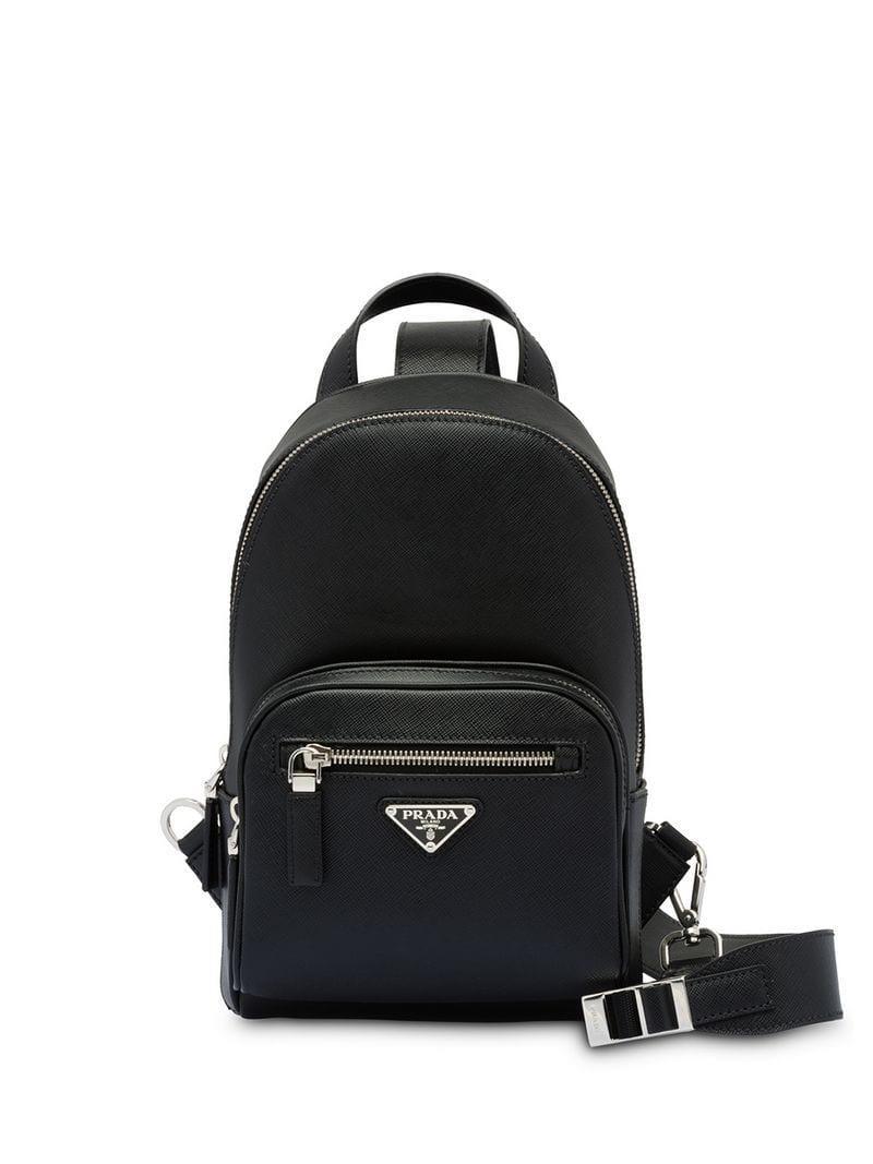 e0b0981c17 Prada One-shoulder Backpack in Black for Men - Lyst