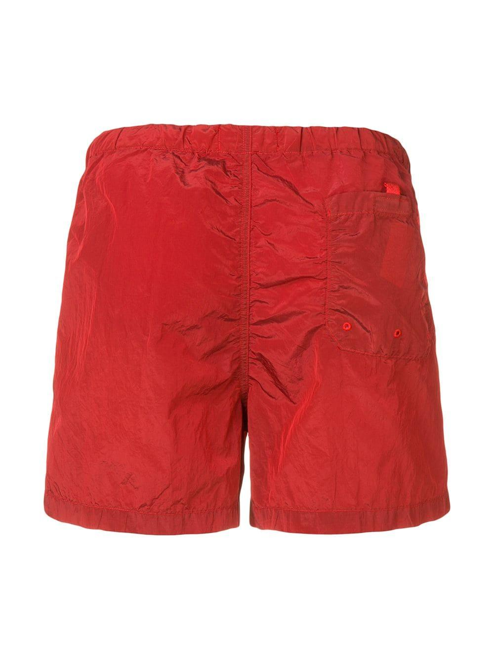 225322d925 Lyst - Stone Island Logo Patch Swim Shorts in Red for Men