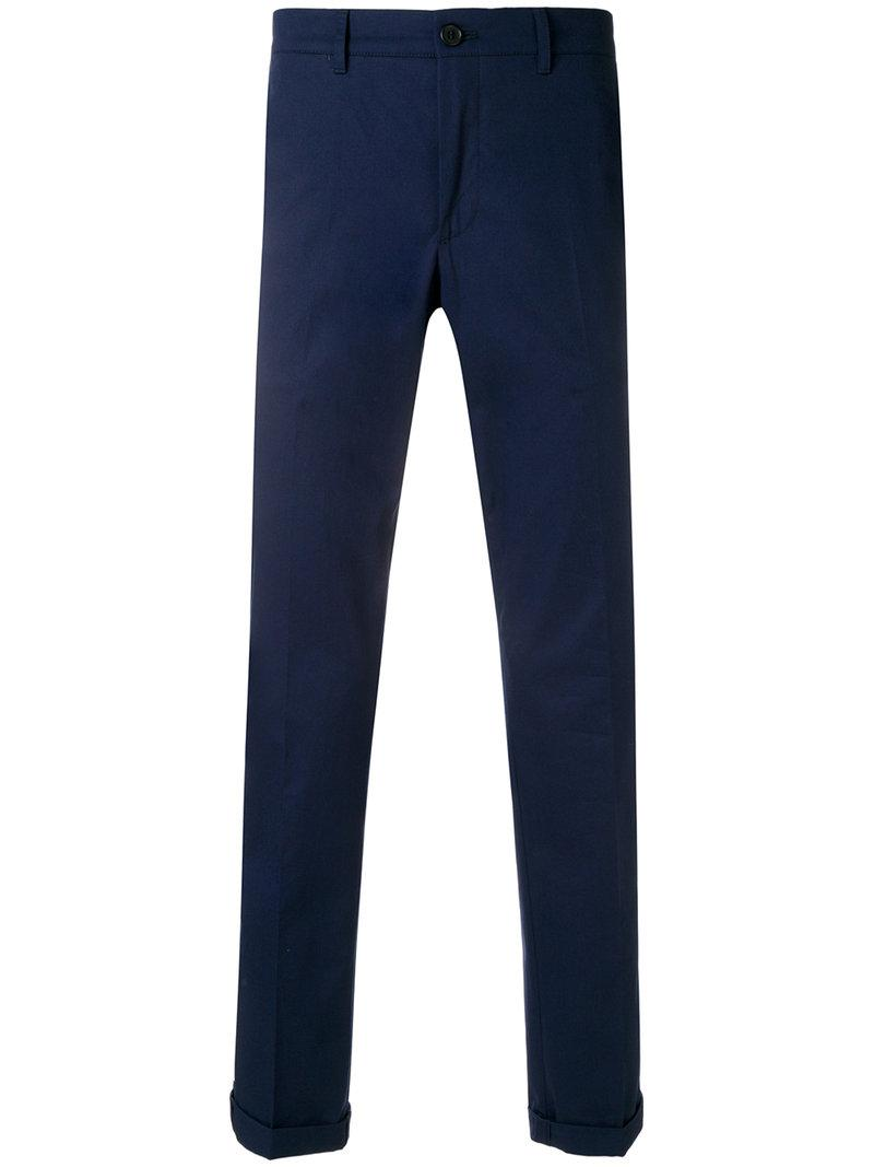 turn up trousers - Blue Prada 2018 New Sale Online For Sale 2018 Shopping Online For Sale 3x1GB6Y47L