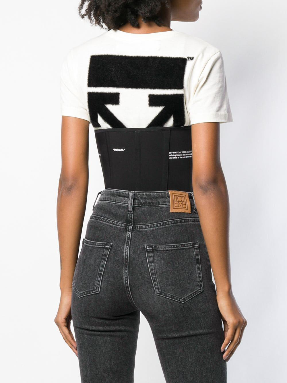 4ff7f27478 Lyst - Off-White c o Virgil Abloh Cupless Corset Top in Black
