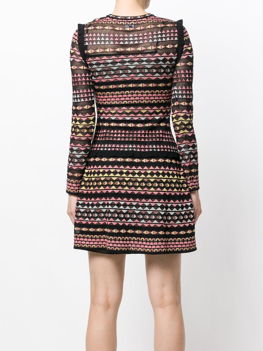 geometric patterned mini dress - Multicolour M Missoni lsoSBJ6ue
