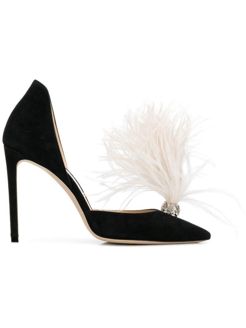 7218e025ce1 Jimmy Choo. Women s Black Feather Court Shoes