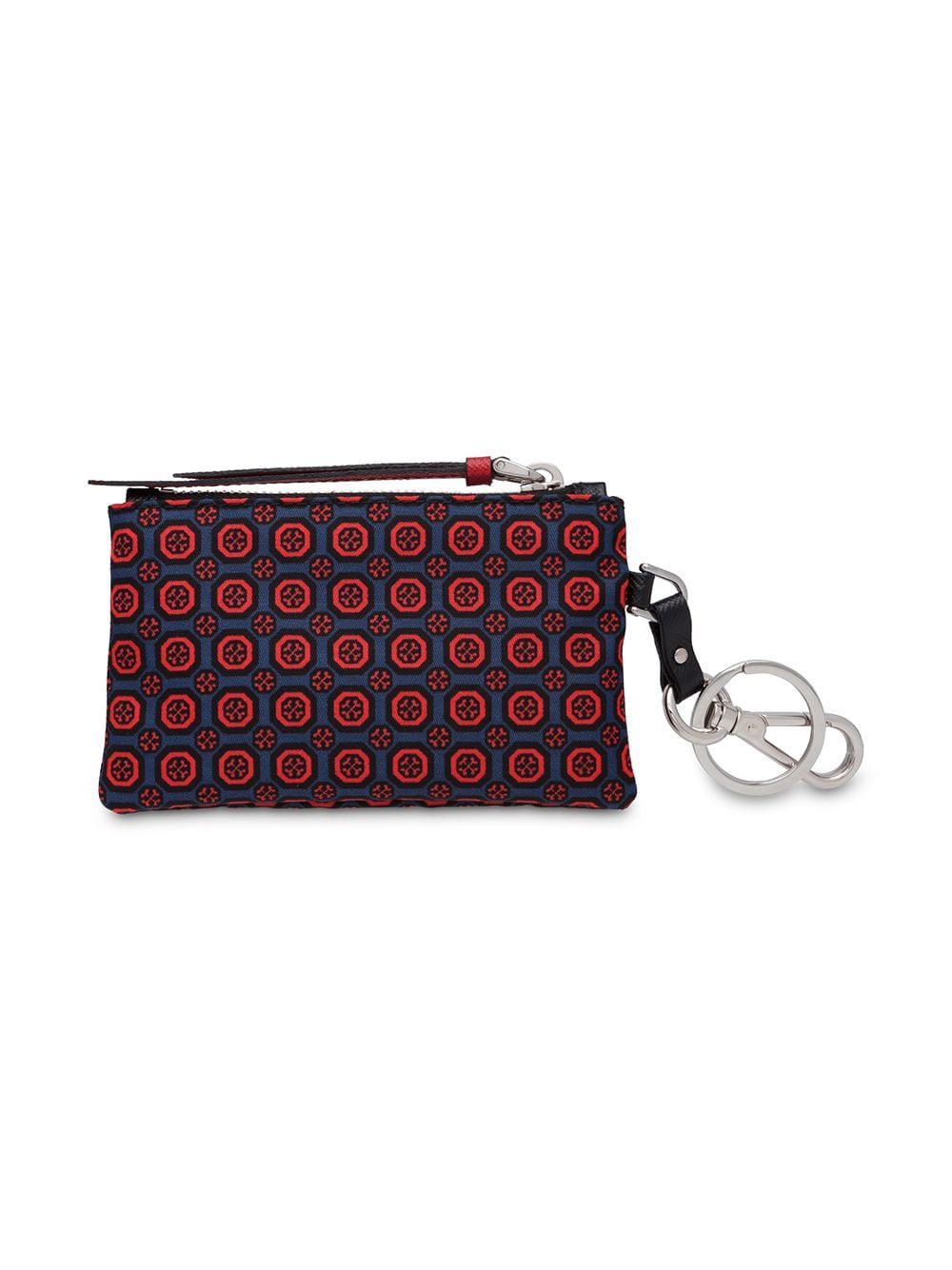 9005496ec9 Prada Saffiano Leather And Nylon Keychain Trick in Red for Men - Lyst
