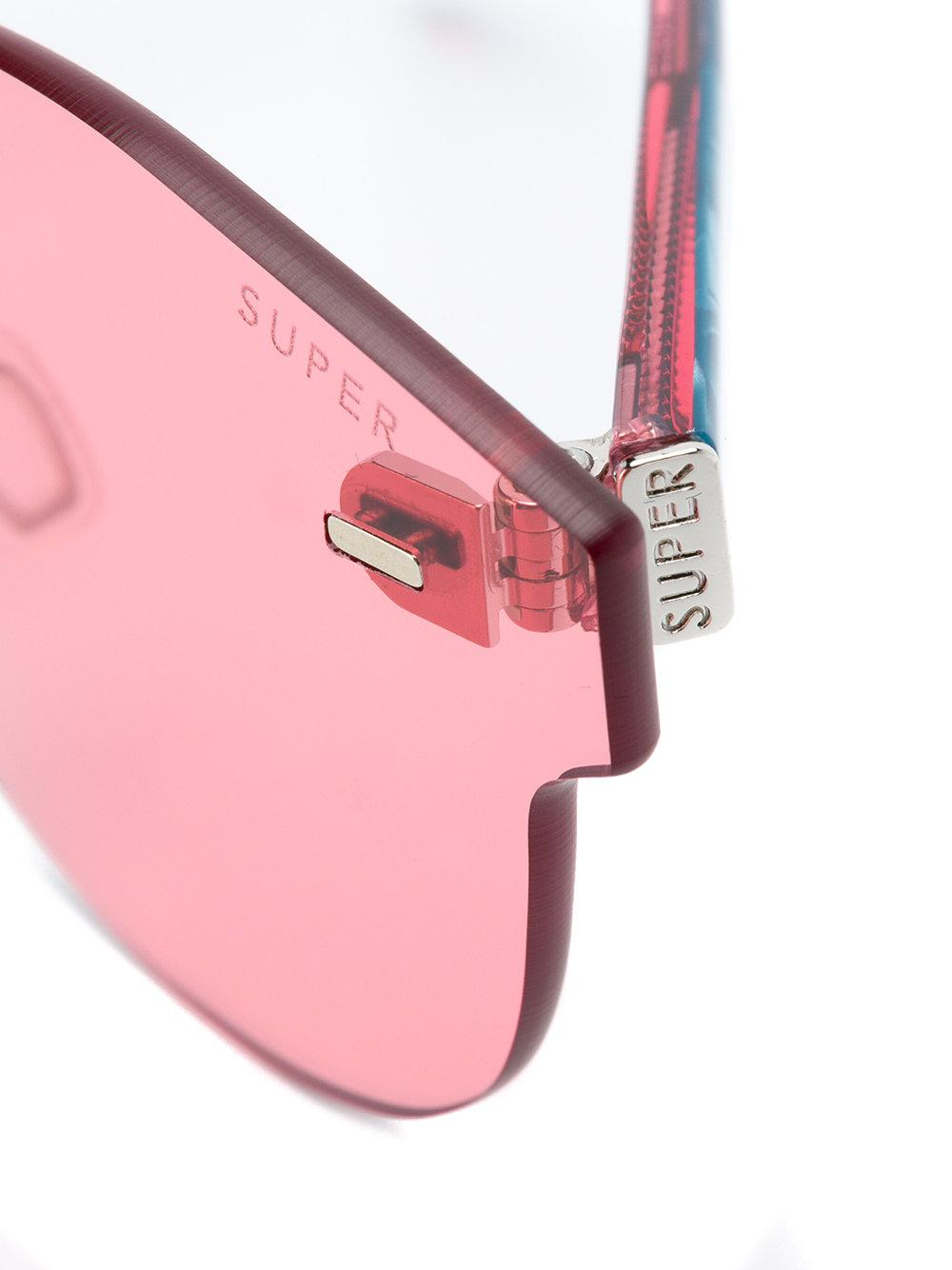 26b6c0f41c87 Lyst - Retrosuperfuture Screen Paloma Round Sunglasses in Red