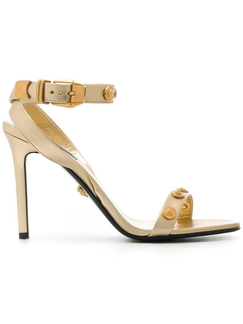 f55e5f1fe Lyst - Versace Shoes For Women in Metallic