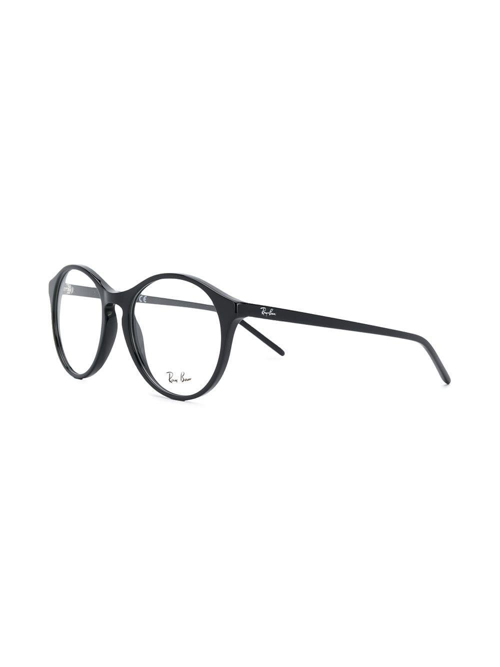 a0b4b6fb9fcca Ray-Ban Round Frame Glasses in Black - Lyst