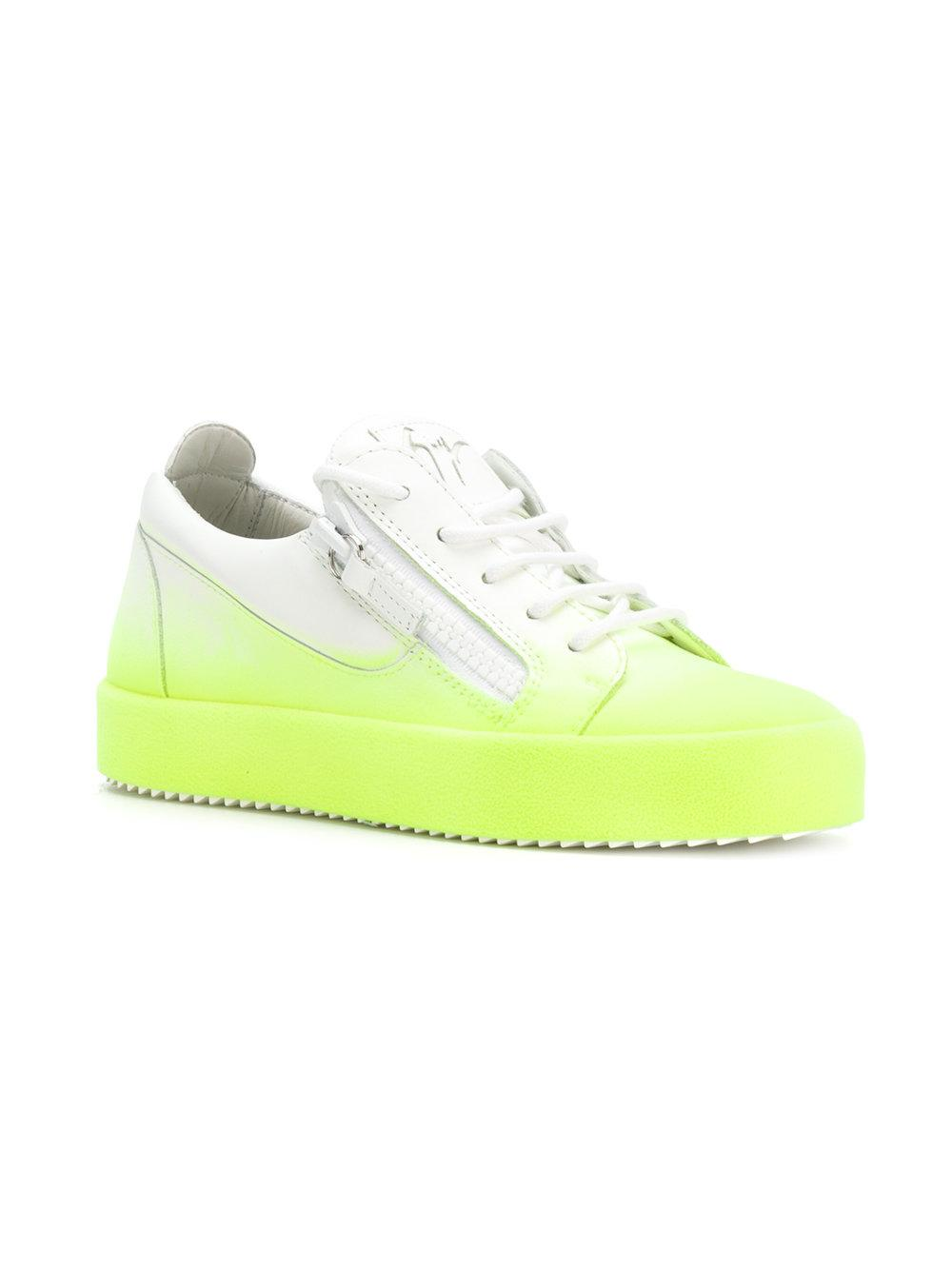 Official Site Sale Online Clearance Purchase May London bicolour sneakers - Yellow & Orange Giuseppe Zanotti Cheap Best Seller Recommend Cheap Purchase For Sale vLgATbk