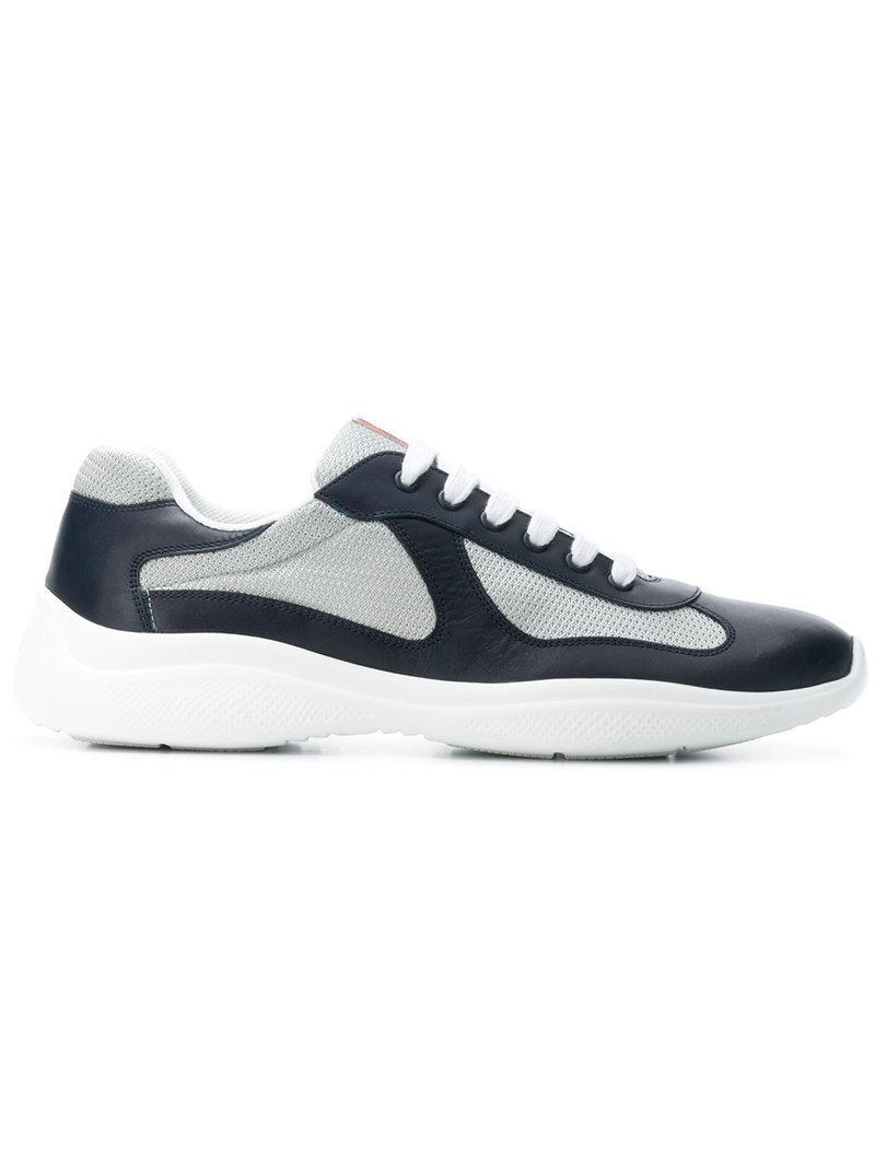ce6cdba8cc8d Prada Panelled Runner Sneakers in Blue for Men - Lyst