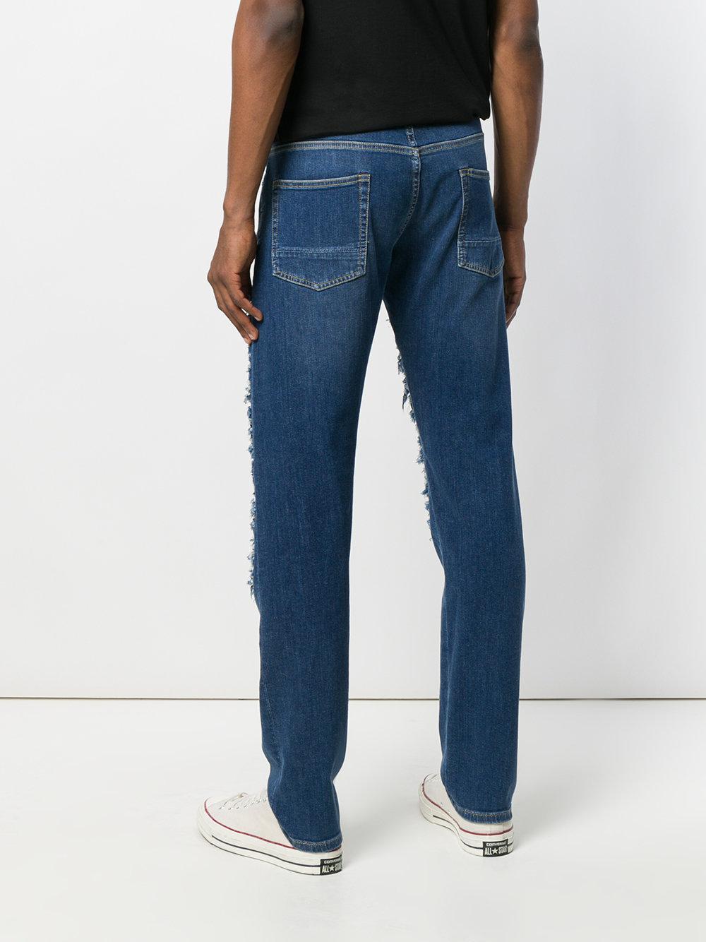 Jeans Coupe Droite - Bleu Alexander Mcqueen yc1q3e