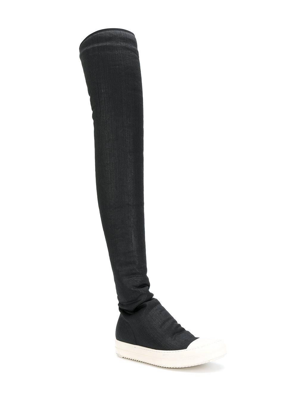 e855bf584793 Lyst - Rick Owens Drkshdw Black Over-the-knee Boots in Black - Save 43%