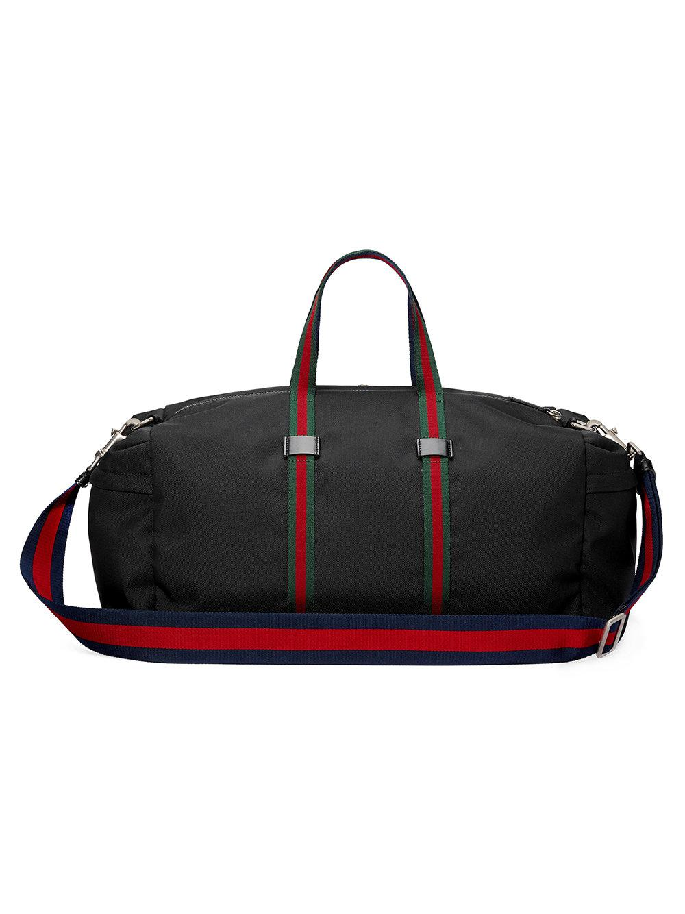 c4e0d28b3702 Gucci Technical Canvas Duffle in Black for Men - Lyst