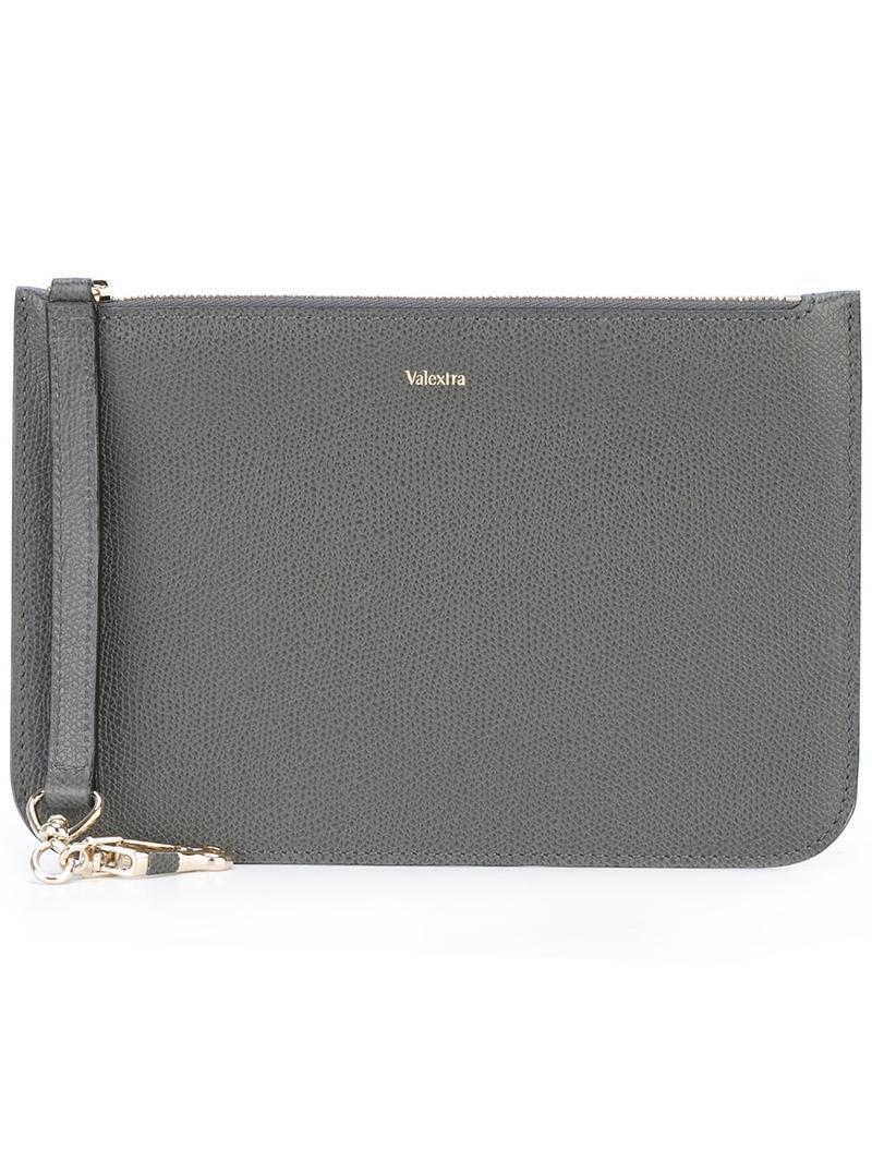 panelled clutch - Grey Valextra YNW63Z1