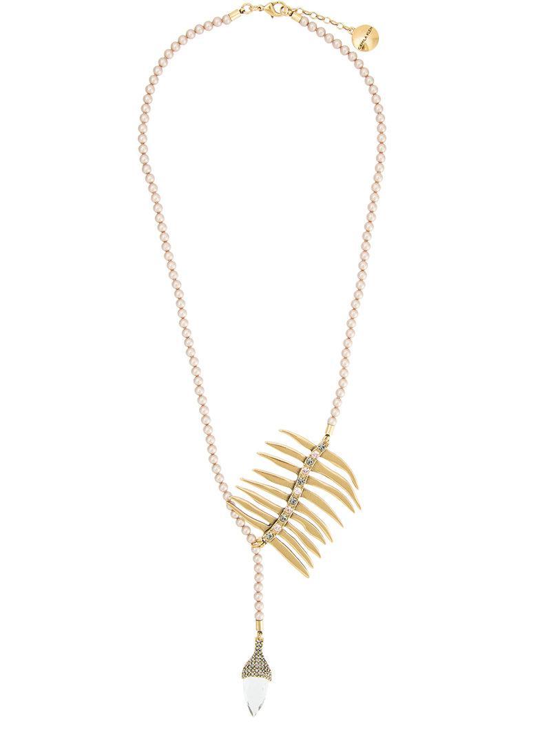 Camila Klein Conceito suede panel necklace - Metallic 0y4QKzsRK3
