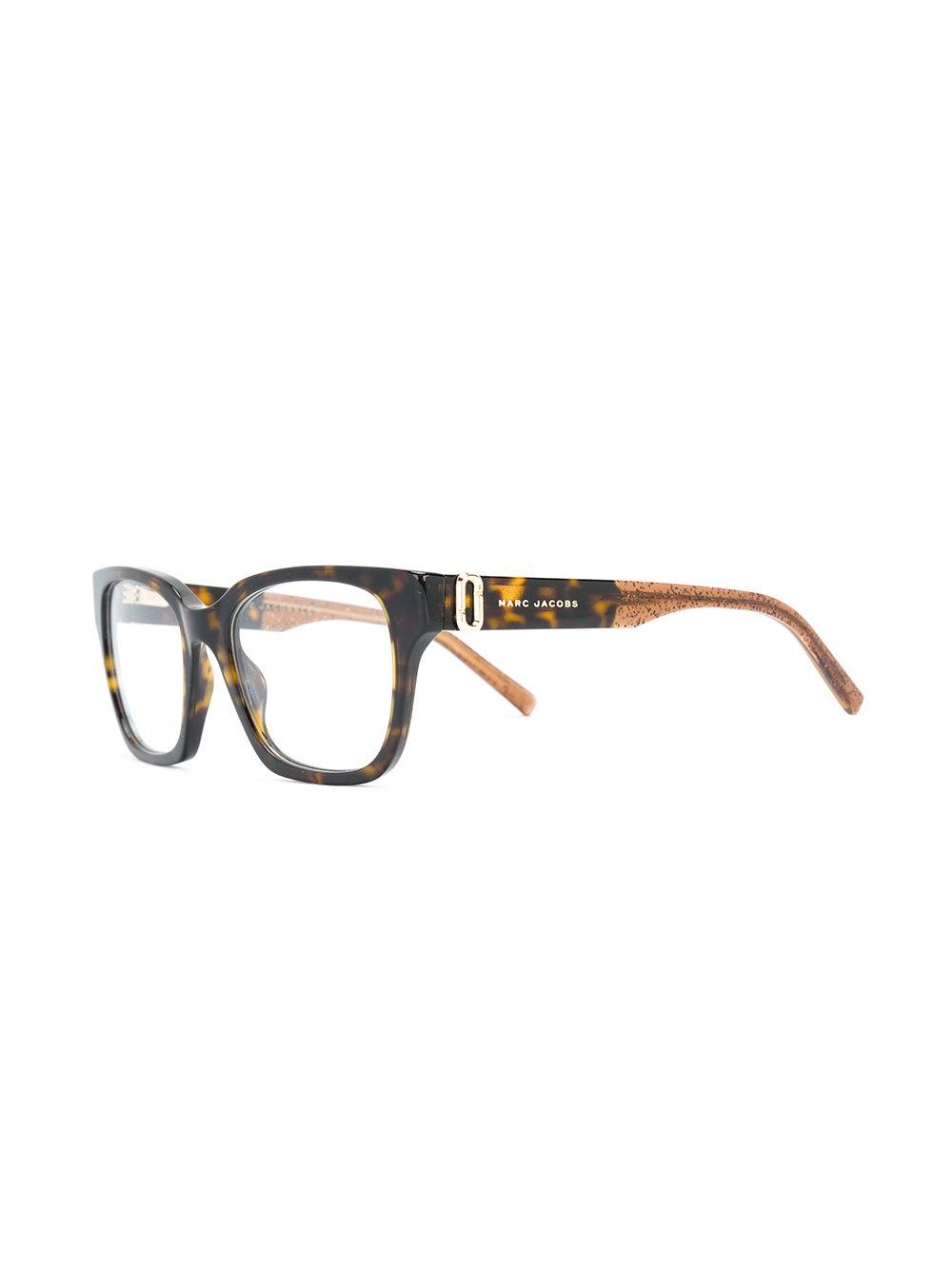 dd42945141 Lyst - Marc Jacobs Tortoiseshell Square Glasses in Brown