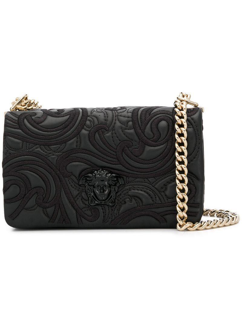 78d02fc64e9c Versace Palazzo Medusa Shoulder Bag in Black - Lyst