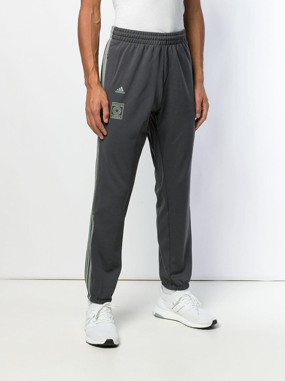 e9a746036 Adidas - Gray Blue Calabasas Track Pants for Men - Lyst. View fullscreen