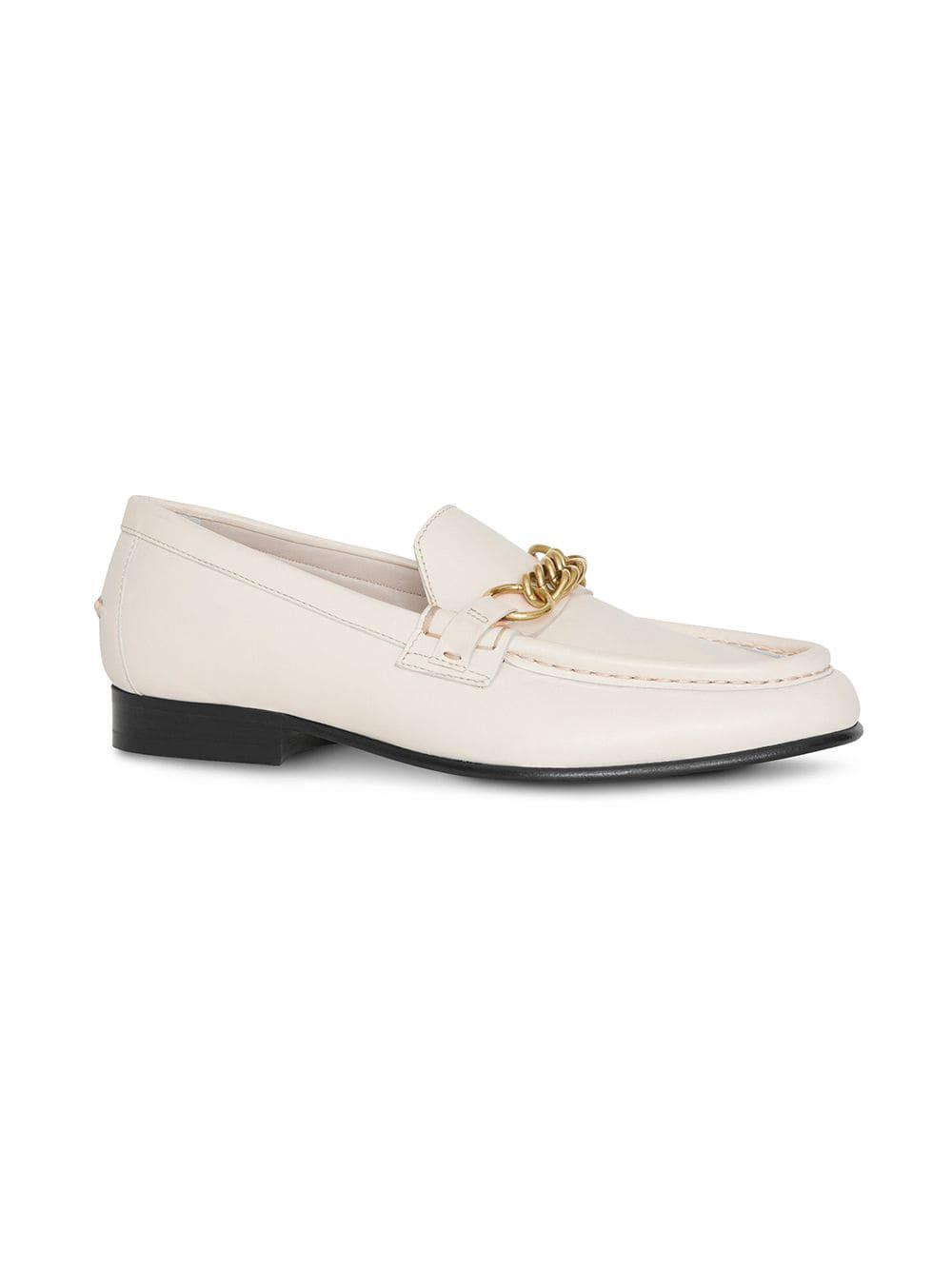 7f465b4e4fc Burberry - White The Leather Link Loafer - Lyst. View fullscreen