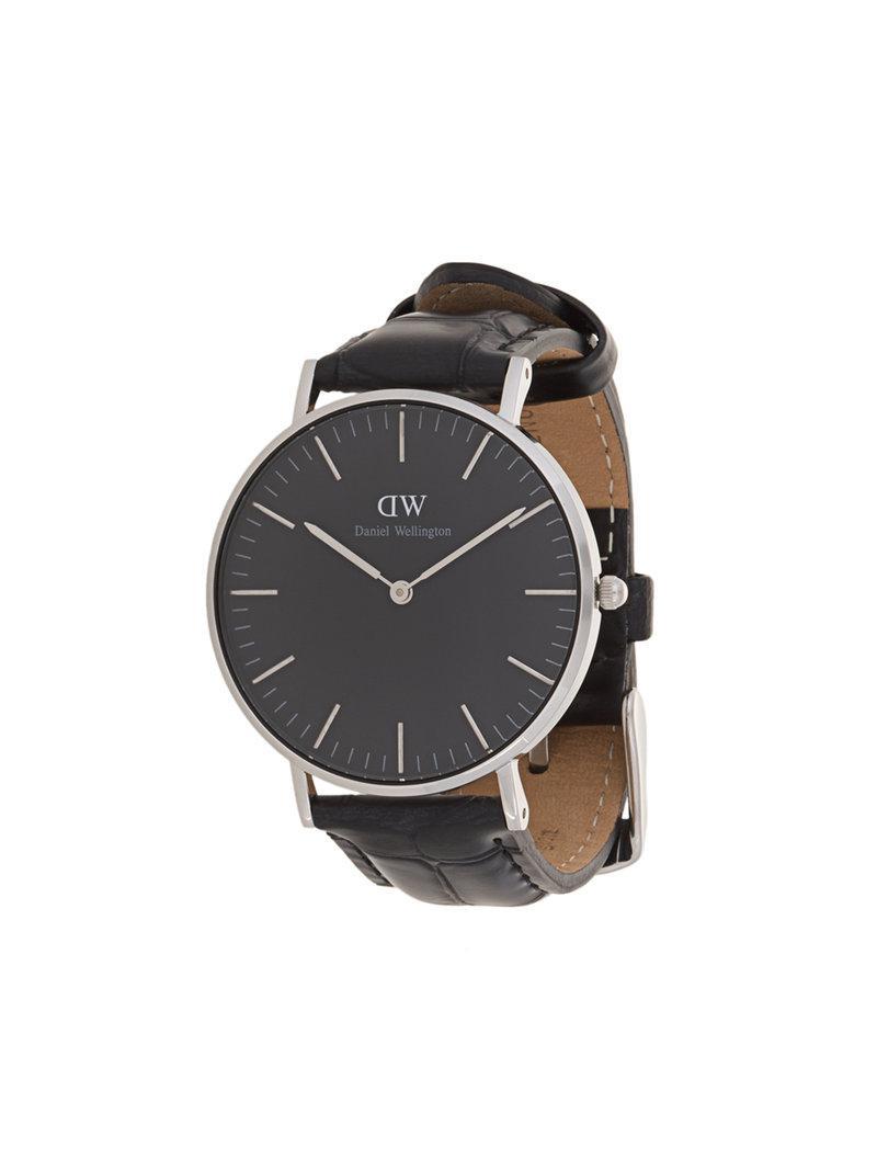 1d0c5d02b76c Daniel Wellington - Reloj Classic Black Reading - Lyst. Ver en pantalla  completa