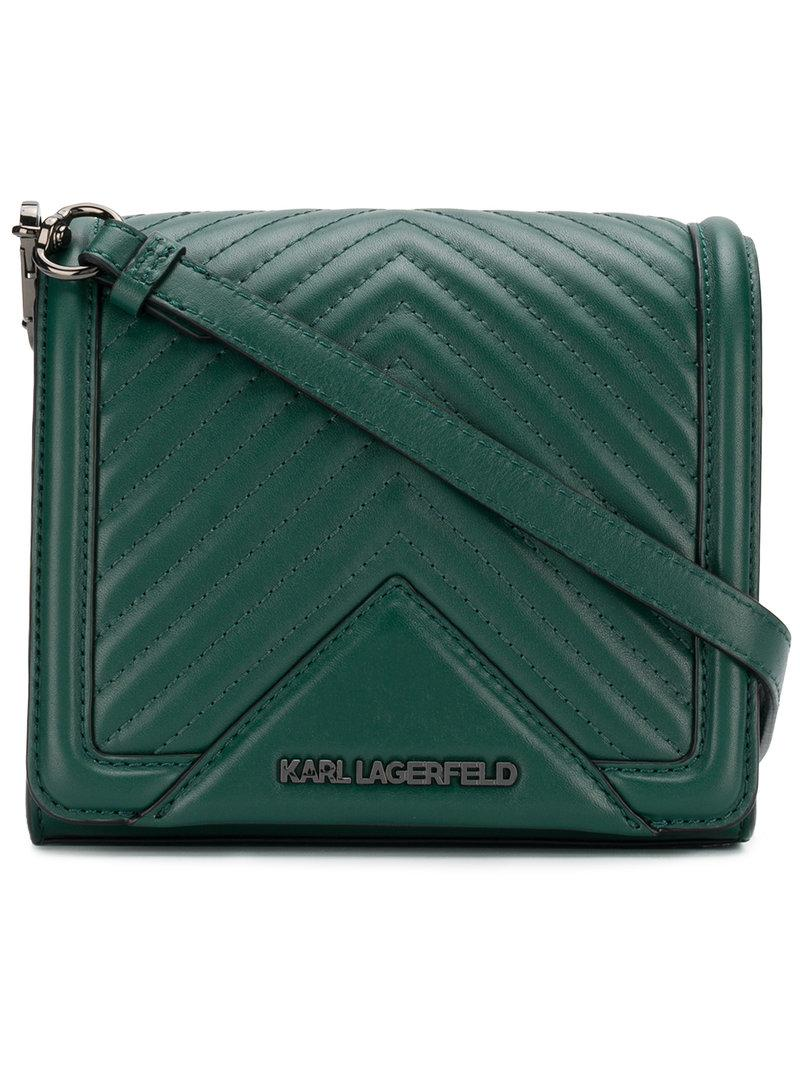 K/Klassik quilted bucket bag - Green Karl Lagerfeld it5SJGm