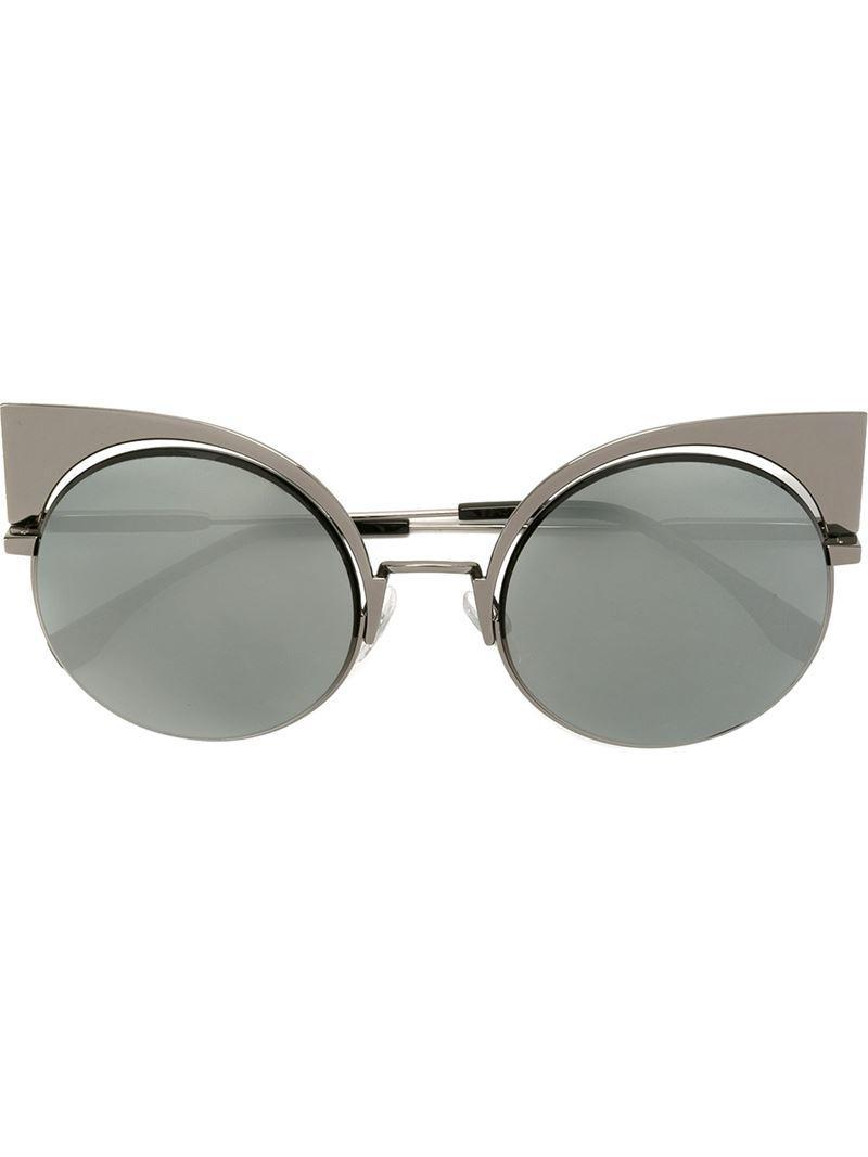 a986e5322cc6 Fendi  eyeshine  Sunglasses in Gray - Lyst