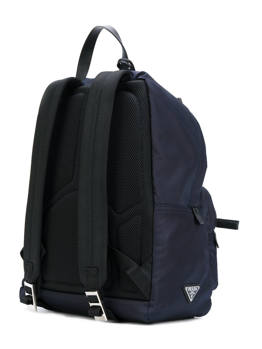 c5496fedad85 australia lyst prada zaino backpack in black for men 12ca9 cbfd3; czech lyst  prada large zip backpack in blue for men d2614 1ef01
