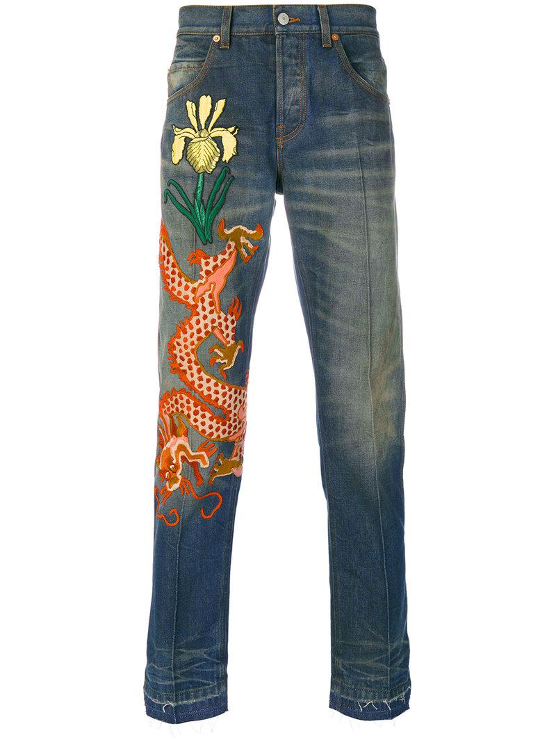 Gucci Stonewashed Denim Jeans in Blue for Men - Save 2% - Lyst