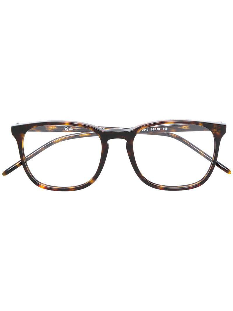 08f214f611 Ray-Ban Classic Square Glasses in Brown - Lyst