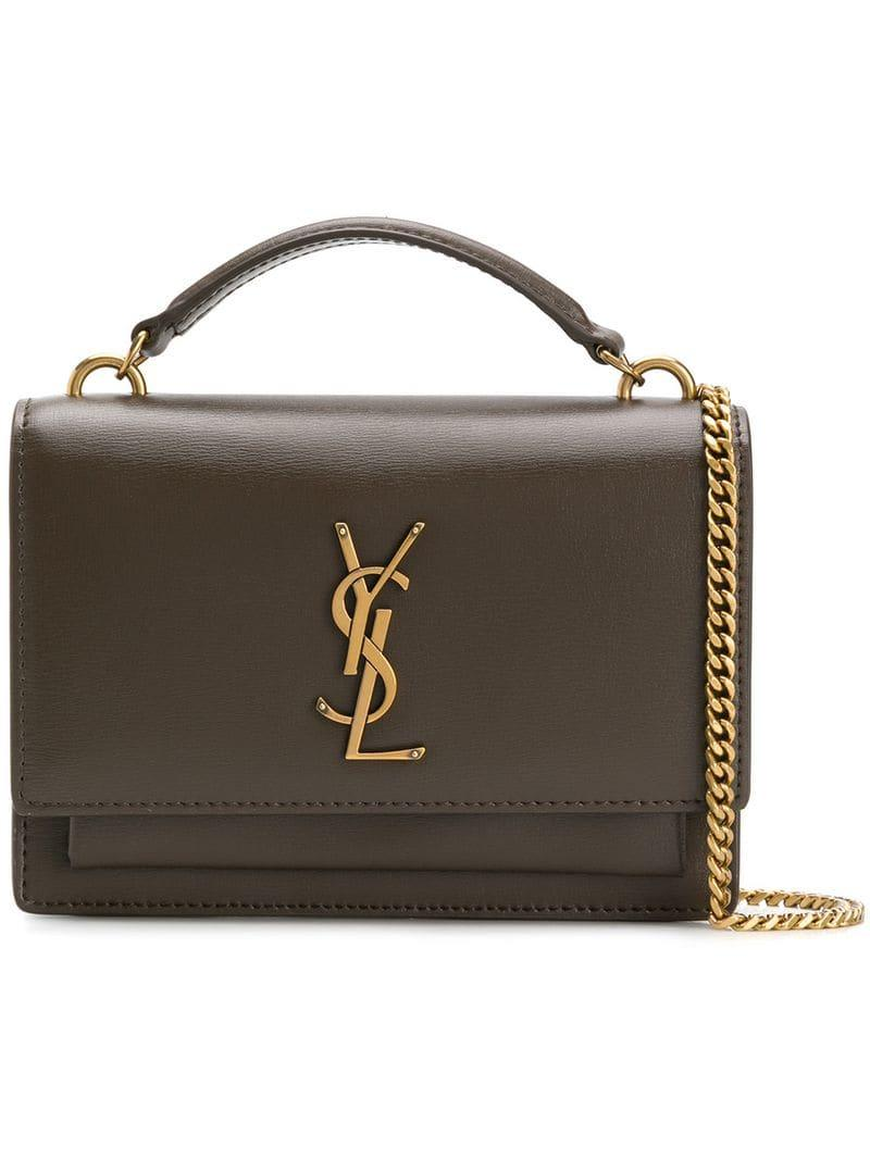 dc6f069b05 Lyst - Saint Laurent Cassandra Chain Bag in Brown