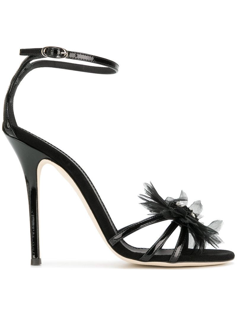 jewelled corsage sandals - Black Giuseppe Zanotti Y4T0NZ