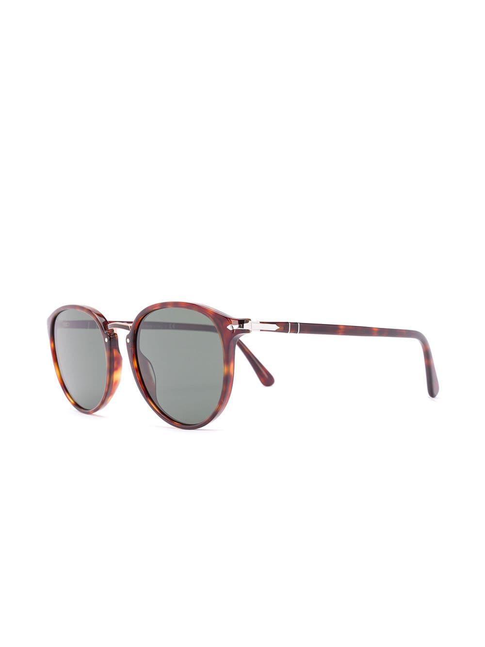 3ae3e846a5f50 Persol - Brown Round Frame Sunglasses - Lyst. View fullscreen