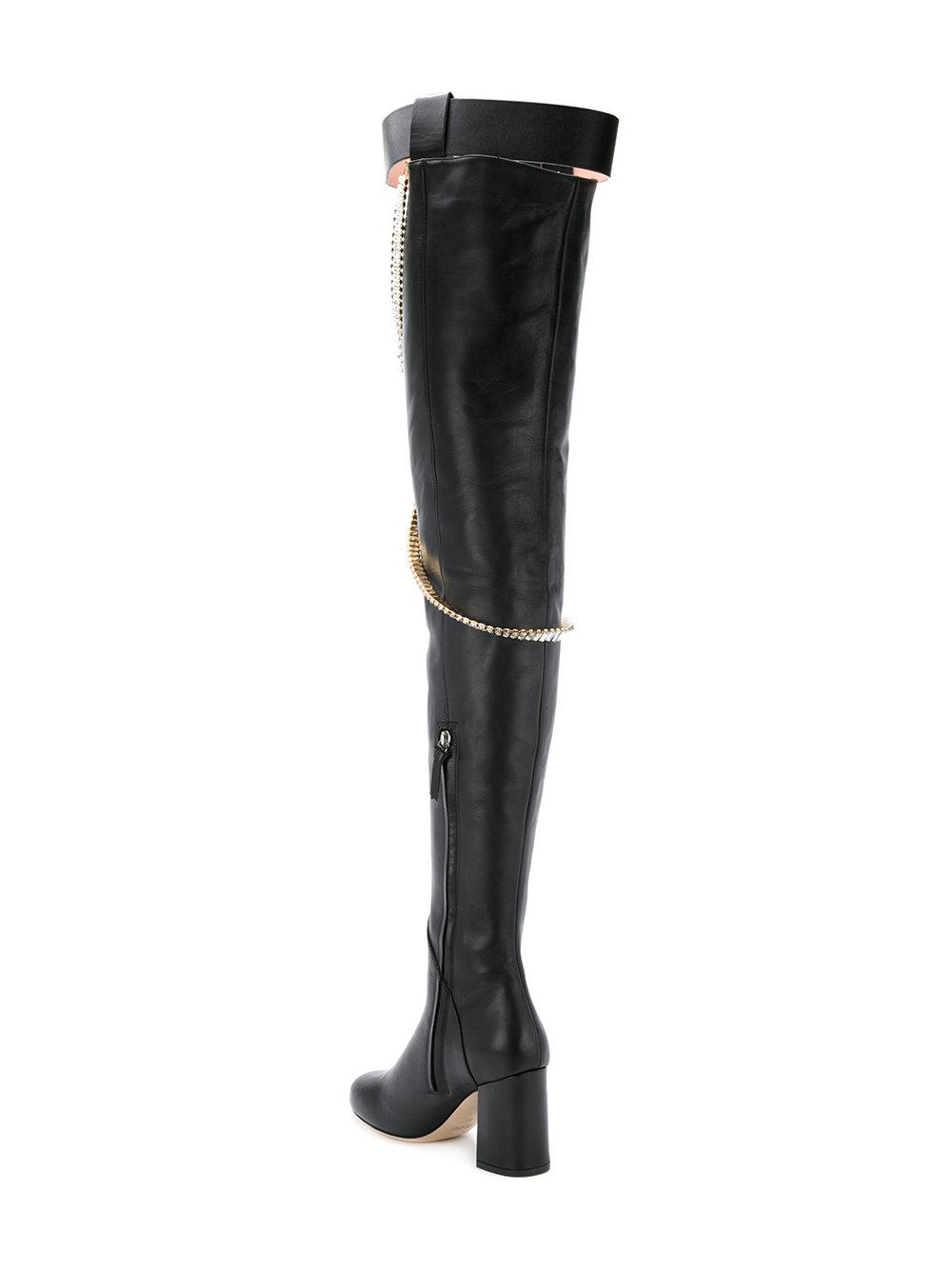 Clearance Official Site Discount 100% Original high thigh chain boots - Black Olgana Paris Buy Cheap Outlet Locations HGx3Hywvb