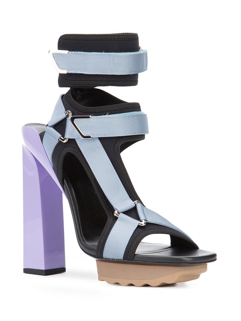 d857ea3530f Lyst - Versace T-bar Platform Sandals in Black