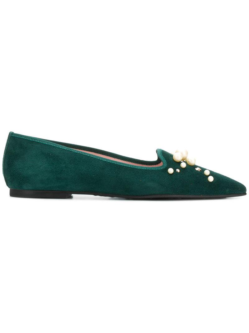 Pretty Ballerinasembellished pointed ballerina flats