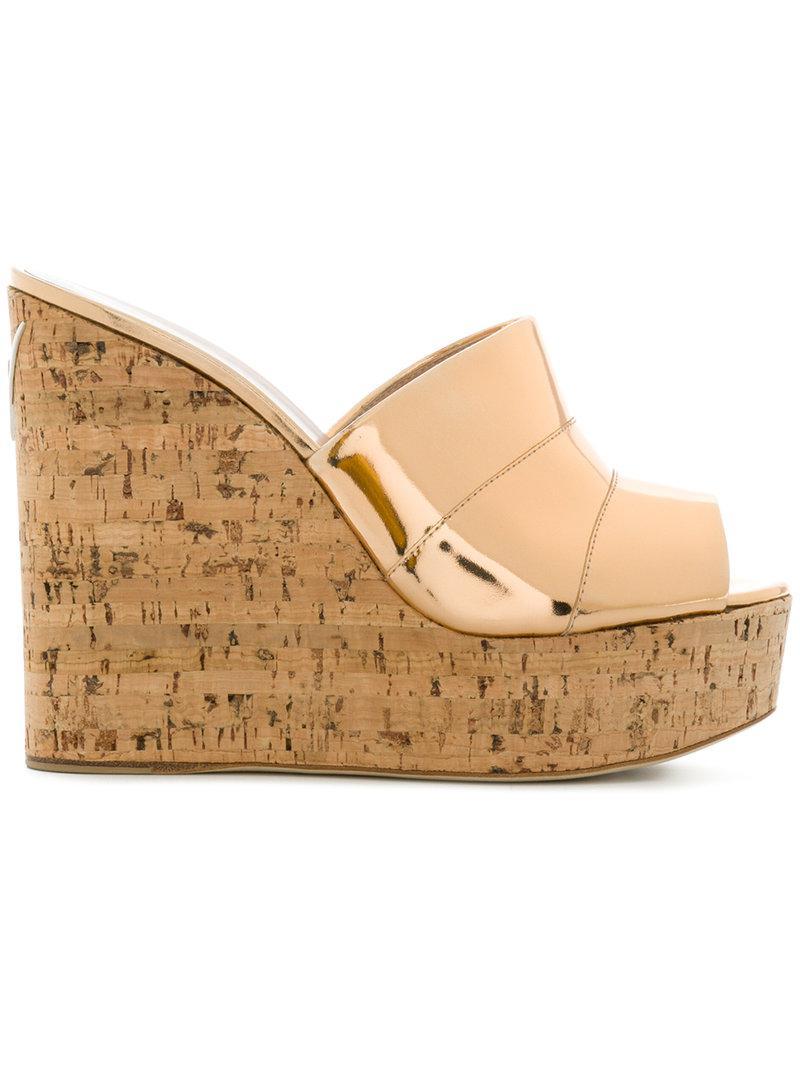 cork wedged sandals - Metallic Giuseppe Zanotti yKg4dCWNCL