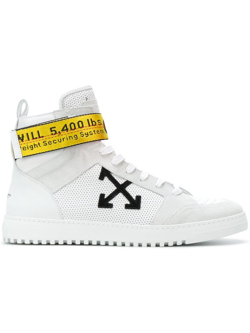 Lyst - Off-White CO Virgil Abloh Industrial Tape High Top Sn