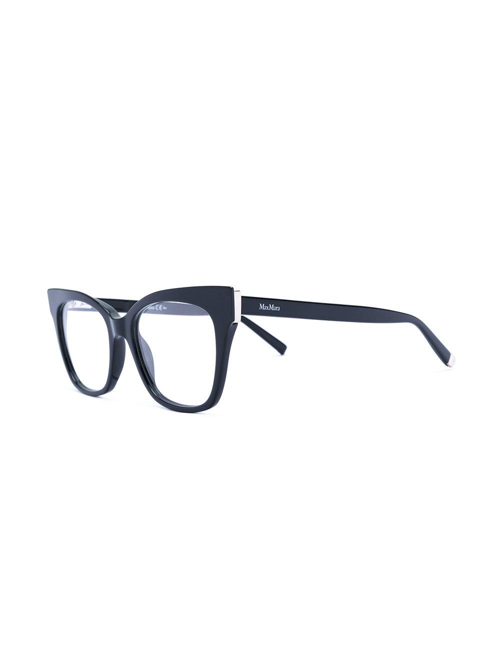 dccc98cd0bd5 Max Mara Cat-eye Optical Glasses in Black - Lyst