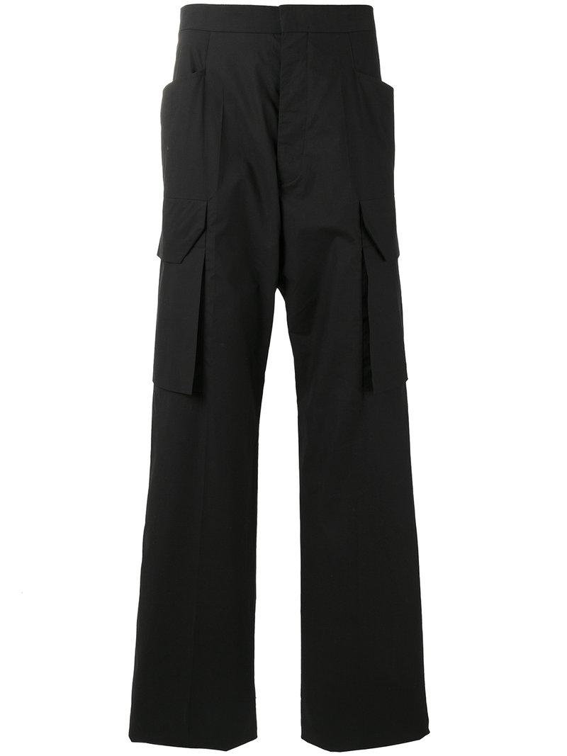 0b92dd15c19 Rick Owens Tailored Cargo Pants in Black for Men - Save 25% - Lyst