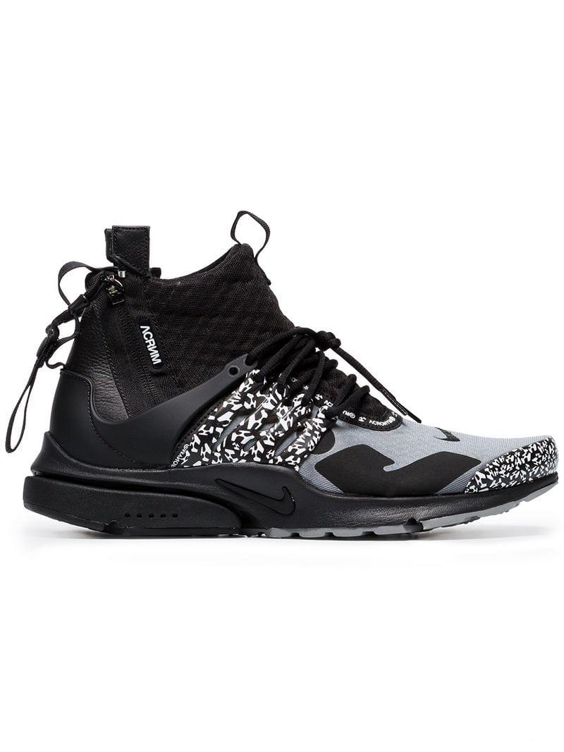 385b3503e754 Lyst - Nike Acronym X Presto Leather Trim Mid Trainers in Gray for ...