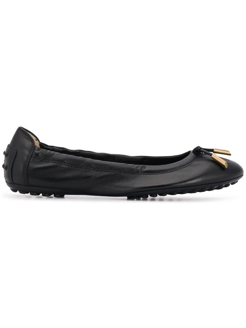 cc486a3632 Tod's Knot Detail Ballerina Shoes in Black - Lyst