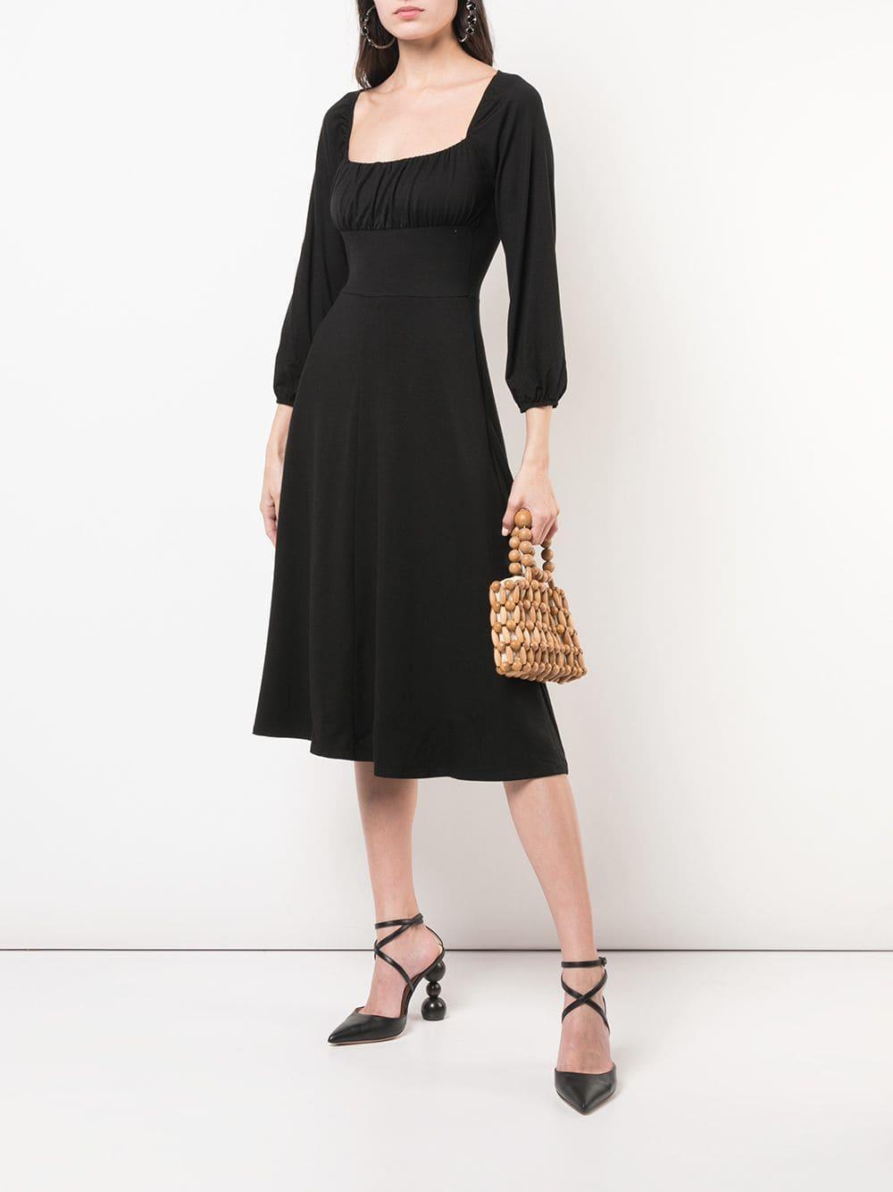 73ca70b1833 Lyst - Reformation Pippa Midi Dress in Black