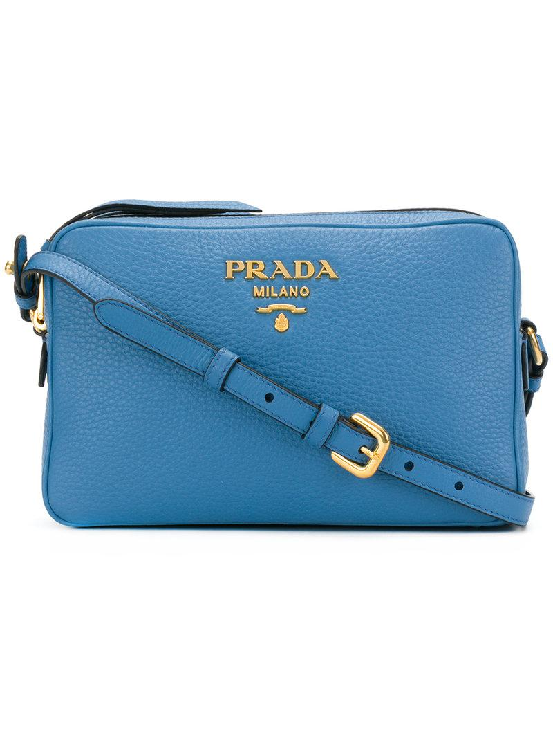 logo plaque shoulder bag - Brown Prada cRyK8