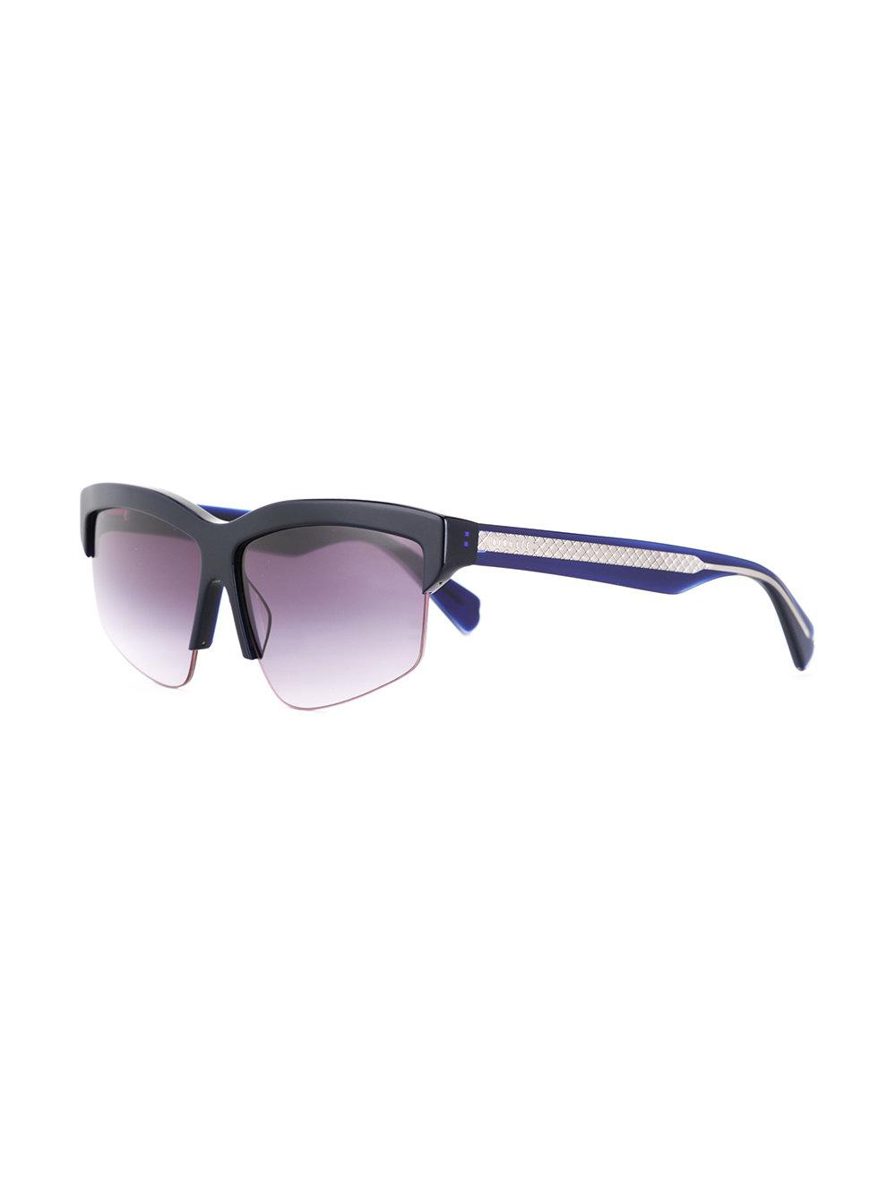 969ffbe2abb1 Lyst - Dion Lee Shiny Sunglasses in Blue