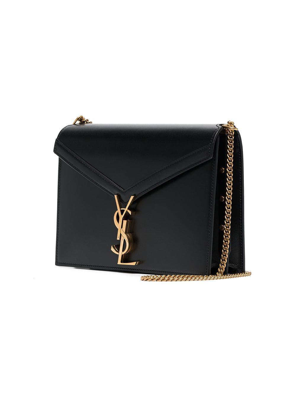 64ca3cb23fca Saint Laurent - Black Marceau Logo Clasp Leather Bag - Lyst. View  fullscreen. SAINT LAURENT Large Envelope Monogram Bag