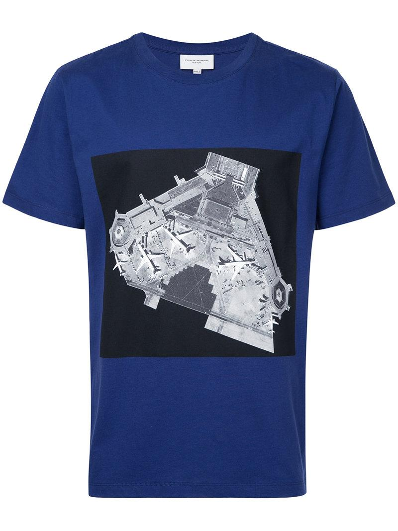 Public School Printed T Shirt In Blue For Men Lyst
