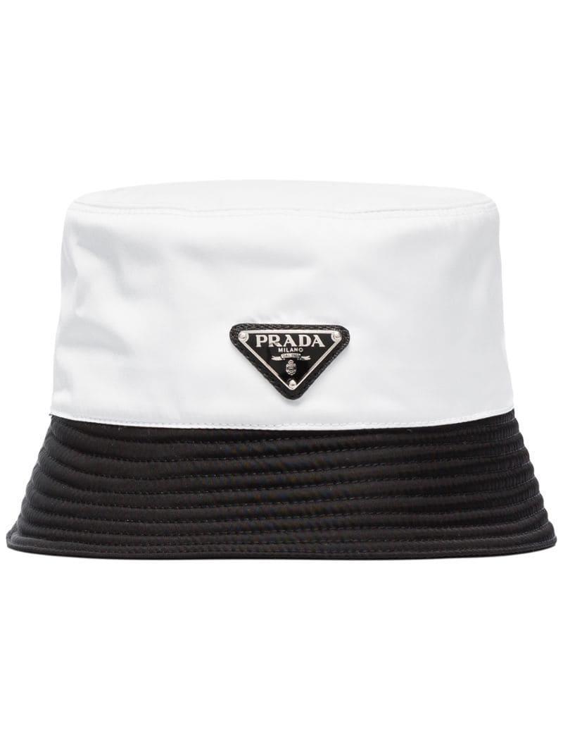 228fb7ef167818 Prada - White Two-tone Bucket Hat for Men - Lyst. View fullscreen